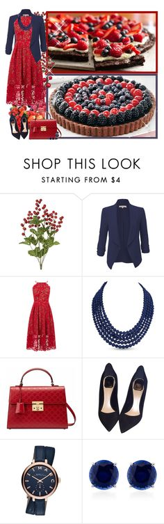 """""""Berries - Contest!"""" by asia-12 ❤ liked on Polyvore featuring LE3NO, Warehouse, Karen Kane, Gucci, Christian Dior, Marc Jacobs and CARAT*"""