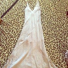 Love Stitch Maxi  dress Excellent Condition worn one time Love Stitch  maxi dress. 100% cotton beige color. Love Stitch Dresses Maxi