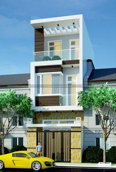 mẫu thiết kế nhà phố 1 trệt 2 lầu