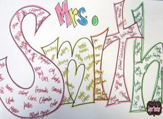 I Want to be a Super Teacher: Grammatical Name Art