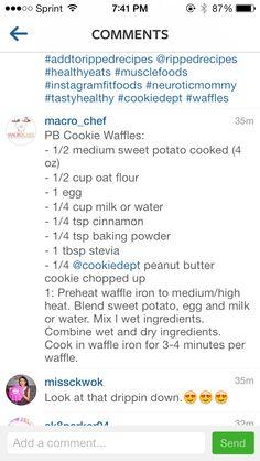PB Cookie Waffles