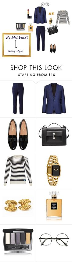 navy style by cpl32015melvin on Polyvore featuring mode, Orcival, Diane Von Furstenberg, Balenciaga and Chanel