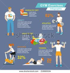 Sport exercises fitness and healthy lifestyle