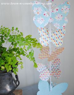 Paper Butterfly Garland with Free Printable