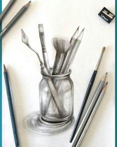 Tonos Shading Drawing, 3d Art Drawing, Pencil Sketch Drawing, Pencil Shading, Object Drawing, Sketch Painting, Music Drawings, Cool Art Drawings, Art Drawings Sketches