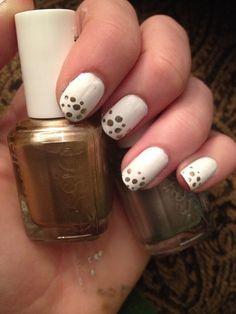 """Champagne"" easy diy nail design"