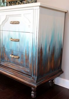 ombre painted side table