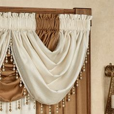 The Leigha Window Treatments add a beautiful solid color glow to your windows for a simply elegant touch. Girls Room Curtains, Swag Curtains, Home Curtains, Valance Curtains, Drapery, Window Curtain Designs, Curtain Styles, Elegant Curtains, Beautiful Curtains