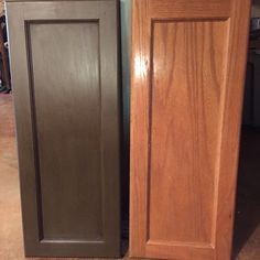 Dark Brown Annie Sloan Cabinet Makeover