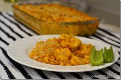 Buffalo Chicken Mac and Cheese - 9/13/12  Used leftover rotisserie chicken, everyone loved it. -J