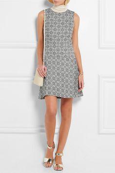 Tory Burch   Cotton-blend jacquard mini dress   NET-A-PORTER.COM