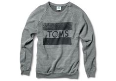 Medium Grey Classic TOMS Crew Neck Sweatshirt I'd be a sweatshirt gal if all sweatshirts were like this! #TOMS Give Back to School Contest