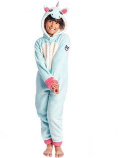 0dd5f3ae61f5f Combinaison Pyjama Licorne Bleue Aqua Enfant