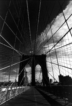 Simon Chaput, Brooklyn Brige, New York, 1997 (silver-gelatin print) , 12½ x 10 inches