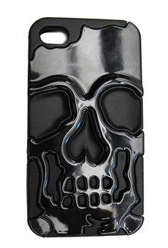 Inked Black Metallic Skull iPhone Case Funny Phone Cases, Cheap Phone Cases, Iphone 5 Cases, Iphone 6 Plus Case, Iphone 4, Apple Iphone, Ringa Linga, Black Iphone 7 Plus, Inked Shop
