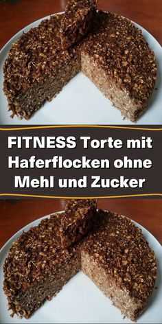 FITNESS cake with oatmeal without flour and FITNESS Torte mit Haferflocken ohne Mehl und Zucker A simple cake made from only 5 ingredients. The ripe the banana, the sweeter the cake and there is no need to add sugar. Easy Chocolate Desserts, Chocolate Cake Recipe Easy, Healthy Desserts, Easy Meat Recipes, Mexican Food Recipes, Baking Recipes, Dessert Recipes, Fitness Cake, Dessert Halloween