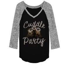Finding Dory Otter Cuddle Party Baseball Tee