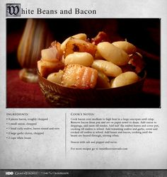 """""""Beans are indeed the magical fruit."""" MORE RECIPES: http://itsh.bo/LQC1sC #food #gameofthrones #beans"""
