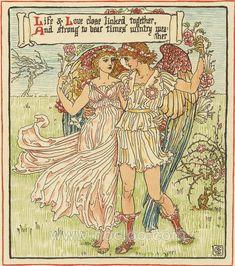 Walter Crane ~ Queen Summer 1891**
