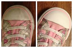 how to clean rubber on converse