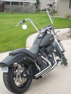 Harley-Davidson : Softail 2007 custom Harley Davidson night train,ape hangers,flat black,west coast wheels