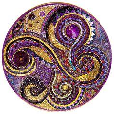 Purple swirl mosaic