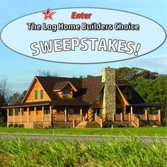 Log Home Design Plan and Kits for Flat Rock | House | Pinterest ...