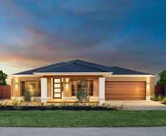 The Byron Home - could work with a few minor tweaks Modern Small House Design, Contemporary House Plans, Modern Bungalow House, Bungalow House Plans, Village House Design, House Front Design, Small House Floor Plans, Barn House Plans, Three Bedroom House Plan