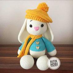 Crochet Animal Amigurumi, Crochet Animal Patterns, Stuffed Animal Patterns, Baby Knitting Patterns, Amigurumi Doll, Amigurumi Patterns, Crochet Dolls, Easter Crochet, Crochet Bunny
