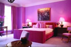 An all-pink bedroom: every girl's dream