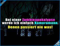 Mein perfekter Plan! :P  #LustigeSprüche #Humor #Zombie #Zombieapokalypse #lustig #Sprüche #Jodel #Memes #Witz #funny