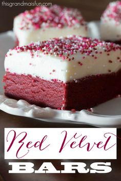 Thick and moist, these Red Velvet Bars are sure to become a family favorite.