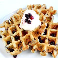 sour cream blueberry waffles