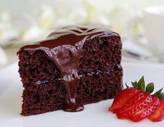 TORTA de CHOCOLATE  con cubierta de chocolate - Recetas. http://www.estampas.com/cocina-y-sabor/recetas/071228/torta-de-chocolate-con-cubierta-de-chocolate