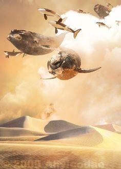 Sky Whales by Ahyicodae