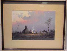 1135A: REINALDO MANZKE (1906-)WESTERN WATERCOLOR : Lot 1135A