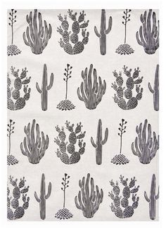 Cactus Print Tea Towel