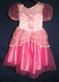 Barbie Princess Dress Pink Sparkle Costume Gown Cameo Multi-Layer Size 4-6X #Mattel #Dress