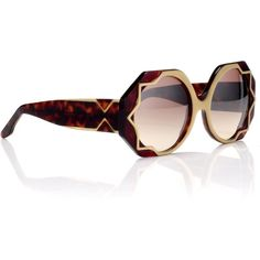 fe1c2b0f91 Cutler and Gross Gold Oversized Tortoiseshell Sunglasses ( 550) ❤ liked on  Polyvore Cutler And