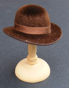 1:12 Scale Dark Brown Bowler Hat