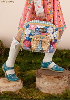 Once upon a time...Fall 2016: Ring of Flowers Dress, Fan Knee High Socks and Delphinium Lunchbox