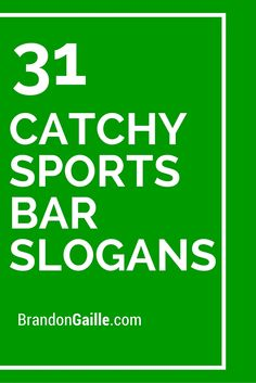 31 Catchy Sports Bar Slogans and Taglines