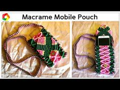 Handmade Macrame Mobile Pouch | Cellphone Cover - YouTube