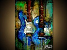 abstract guitars... i want this for our bedroom