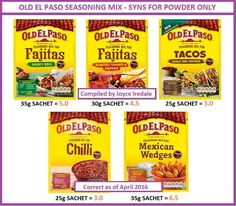 Old El Paso astuce recette minceur girl world world recipes world snacks Slimming World Syns List, Slimming World Survival, Slimming World Syn Values, Slimming World Treats, Slimming World Free, Slimming World Dinners, Slimming World Recipes Syn Free, Fajita Mix, Sliming World
