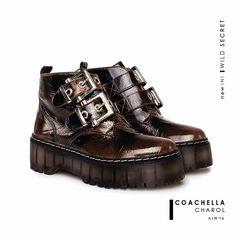 Borcego COACHELLA charol choco   #leather #aw16 #wildsecret #COACHELLA