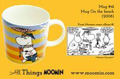 Moomin mug On the beach by Arabia - Moomin Moomin Mugs, Finland, Tableware, Beach, Trays, Anna, History, Design, Dinnerware