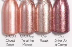 Metallics - Pink & rose gold nail inspiration #welove...x
