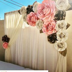 Excited to share this item from my shop: Large Paper Flower Backdrop / Giant Paper Flowers / Paper Flower Wall / Wedding Wall / Bridal shower/ premium flower wall Quinceanera Decorations, Backdrop Decorations, Birthday Decorations, Baby Shower Decorations, Flower Decorations, Wedding Decorations, Bat Mitzvah Decorations, Paper Backdrop, Backdrop Ideas