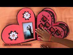 Heart shaped scrapbook/ Heart book/ love book / chocolate explosion box / love book/ scrapbook insid - YouTube Handmade Anniversary Gifts, Love Box, Paper Quilling Designs, Explosion Box, Love Craft, Scrapbook Albums, Heart Shapes, Origami, Valentines
